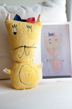 This company takes a child's drawing and makes it into a stuffed animal or pillow!!! Im so going to do this