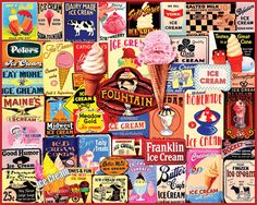 Ice Cream Collage - 1000 Pieces - JUST RELEASED-White Mountain Puzzles