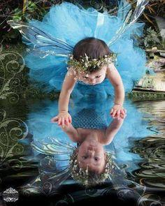 .reflexo bebe fada ao luar