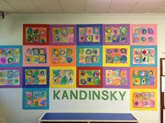 Mrs. Goff's Pre-K Tales: Art Inspired by Kandinsky.  Beautiful!  View early education resources at www.thefamilyconservancy.org  ~Shari at TFC Kindergarten Art, Preschool Art, Preschool Winter, Preschool Projects, Kandinsky Art, Artists For Kids, Art For Kids, Art Lessons Elementary, Elementary Education