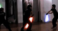 The Ludosport Lightsaber Combat Academy is a chain (yes, there are multiple schools!) in Italy that teach willing students in the art of lightsaber combat. Or, for those who've never dreamed of being a Jedi, in dancing around swinging a glowing toy stick. Love Stars, Parkour, Long Time Ago, Lightsaber, Funny Moments, Mind Blown, Nerd, Star Wars, In This Moment