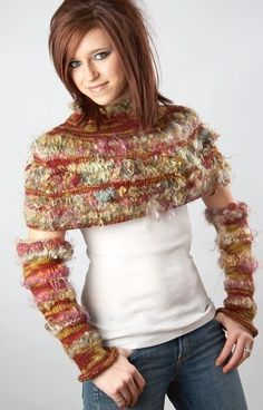 Handspun Capelet and Armwarmers PDF pattern  NEW by janicerosema, $7.00