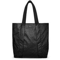 Everyday Shopper Black by BUILT -  The Everyday Shopper is made from a water-resistant coated poly canvas and features a roomy, unstructured interior that includes an inside pocket for those special items you want to keep organized.