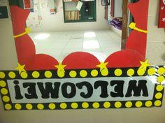 My kindergarten Hollywood themed doorway