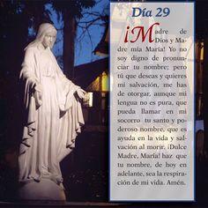 Oración día 29, Mayo mes de María Bible Proverbs, Spiritual Prayers, Mama Mary, Blessed Mother, God Jesus, Spirituality, Faith, Novenas, Quesadillas