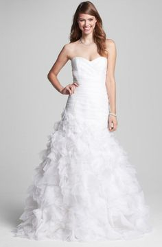 Bliss Monique Lhuillier ruffled skirt wedding gown (#BL1213)