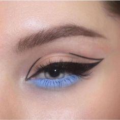 ✔ Makeup Tutorial Eyeliner Make Up Edgy Makeup, Makeup Eye Looks, Eye Makeup Art, Makeup Goals, Skin Makeup, Makeup Inspo, Eyeshadow Makeup, Makeup Ideas, Maybelline Eyeshadow