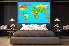 Blue world map canvas world map push pin world map pin board push push pin cotton map world travel map push pin world map canvas map of world canvas wall art pinboard canvas world map wall wood world map gumiabroncs Image collections