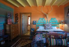 Rancho Milagro near Round Top, Texas. Cowgirl Bedroom, Southwestern Home Decor, Vintage Cowgirl, Welcome To My House, Eclectic Modern, Western Homes, Round Top, Design Studios, Mexican Style