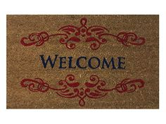 """""""Welcome"""" Doormat by Castle Mats, Size 18 x 30 inches, No... https://www.amazon.com/dp/B01A7D2Y30/ref=cm_sw_r_pi_dp_x_NHwsybEG1CRWH"""