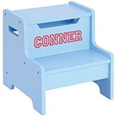 Guidecraft Expressions Step Stool - Child's Step Up, Kid's Furniture, Light Blue 716243876066 Kids Bookcase, Pet Urine, Light Letters, At Home Store, Wood Construction, Toys For Girls, Kids Furniture, Office Furniture, 5 D