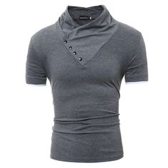 8bd76e0328b6 tshirt homme Picture - More Detailed Picture about Men S T Shirt 2017 Summer  Fashion double collar Short Sleeved Tees Male Camisa Masculina T Shirt Slim  ...