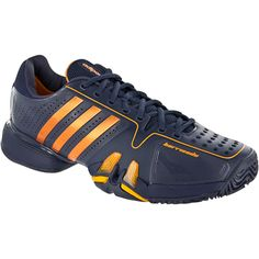Click Image Above To Buy: Adidas Adipower Barricade 7: Adidas Men's Tennis Shoes Urban Sky/bright Gold