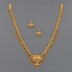 Welcome To Mangatrai - Products Details Gold Bangles Design, Gold Earrings Designs, Gold Jewellery Design, Necklace Designs, Gold Designs, Gold Jhumka Earrings, Gold Necklace, Necklace Set, Jewelry Necklaces