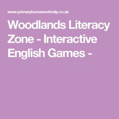 A Variety of fun English Games and Activities to help improve English Skills in easy to read format and navigation from Woodlands Junior School Literacy And Numeracy, Literacy Games, Maths, Fun English Games, Learn Math Online, Improve English, Summer Courses, English Reading, Primary Teaching