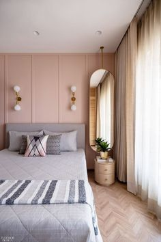 Pink Master Bedroom, Master Bedroom Interior, Room Ideas Bedroom, Modern Bedroom, Girls Bedroom, Home Bedroom, Home Room Design, Bed Design, Home Interior Design