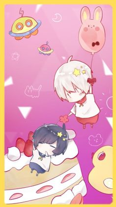 After the rain Chibi Anime, All Anime, Anime Art, Cute Characters, Anime Characters, Diabolik Lovers, Neko Kawaii, Creepy Animals, Chibi Food