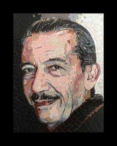 Mosaic Portrait, Artist, People, Painting, Mosaics, Faces, Artists, Painting Art, Paintings
