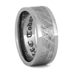 Best Finest Quality Seamless Meteorite Rings Meteorite Bands Meteorite Engagement Rings and Meteorite Wedding Bands M Word Ring Pinterest Engagement