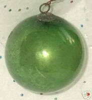 The 1st glass ornament was the Kugel (1848). Kugels were handcrafted in Lauscha, Germany and first appeared on American trees in the 1860s, primarily in the homes of German immigrants (A large percentage of people living in Johnstown at this time were German). These ornaments were not sold in America until 1880. Kugels, were large hollow glass balls ranging in size from 1 inch to 18 inches. The glass ornaments we have today evolved from the Kugel.