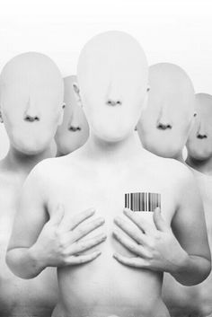 My Identity looked just like that to some people.just another barcode Conceptual Photography, Art Photography, Contemporary Photography, Proxy, Identity Art, Orphan Black, Trends, Photo Manipulation, Black And White