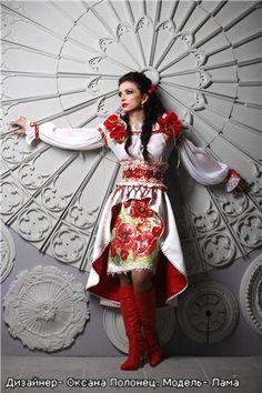 Lama (Natalya) modeling Ukrainian fashion