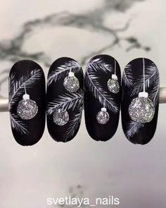 How can you learn tricks if you're just starting to make up? Nail Art Noel, Xmas Nail Art, Xmas Nails, Christmas Nail Art Designs, Holiday Nails, Christmas Nails, Cute Nails, Pretty Nails, Gel Nails