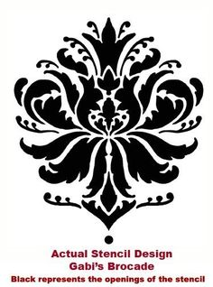 Try damask stencils instead of wallpaper. Stencils are economical, easy alternative to wallpaper. Large stencil collection, free stencil with every order! Wall Stencil Patterns, Damask Stencil, Stencil Designs, Stencil Walls, Wall Stenciling, Furniture Stencil, Cutting Edge Stencils, Islamic Pattern, Craft Robo