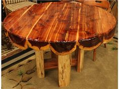 Viking Round Red Cedar 48 Inch Dining Table
