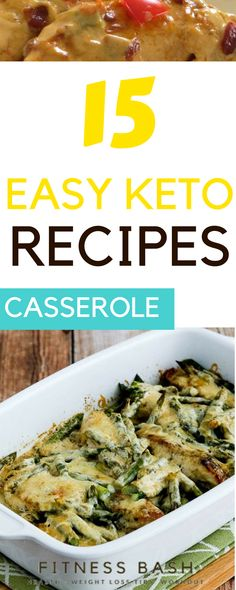 Keto casserole recipes for easy keto dinners. The delicious low carb keto recipes which you can make on weekdays. Many chicken keto casseroles are included.