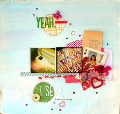 by leah  scrapbook page