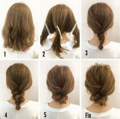 peinado sencillo cabello corto