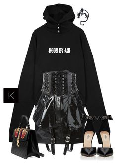 """""""Untitled #3925"""" by kimberlythestylist ❤ liked on Polyvore featuring Jeremy Scott, Forever 21, Valentino and Gucci"""