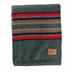 Pendleton Wool Yakima Camp Blanket Green Heather Used for Display Only