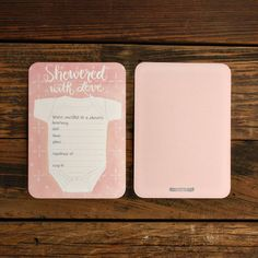 Pink Onesie Showered With Love Fill in the Blank Invitations