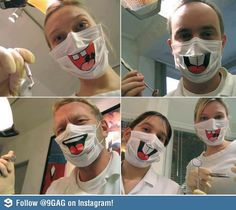 I would hate if my dentist wore these. So creepy.