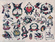 Milton Zeis Color Letterpress Print – Yellow Beak Press - Tattoo History Books, Prints, & Apparel