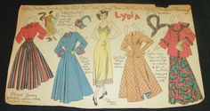 LYDIA Boston Sunday Post Cut-Out Doll May 1948 by Lucy Eleanor Leary