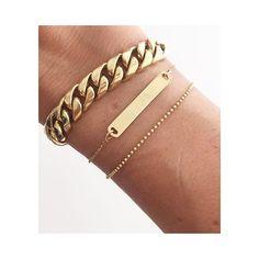 Golden details on my wrist❥ #aninebingjewelry