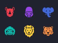 Animal Icons by Alexa Grafera for Parakeet