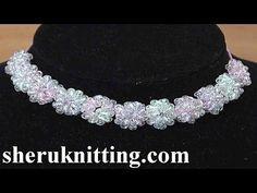 Crochet Mini Flower String Tutorial 115 - YouTube