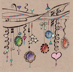 Zentangle Dangles Related Keywords & Suggestions - Zentangle Dangles Long Tail K. - Painting in my mind - Tangle Doodle, Tangle Art, Zen Doodle, Doodle Art, Zentangle Drawings, Doodles Zentangles, Doodle Drawings, Flower Drawings, Doodle Patterns