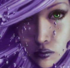 Online digital art gallery of best pictures and photos from portfolios of digital artists. Manually processing and aggregation artworks into the thematic digital art galleries. Purple Love, All Things Purple, Shades Of Purple, Deep Purple, Purple And Black, Pink Purple, Magenta, Purple Stuff, Purple Hair