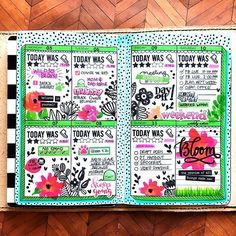 My finished #Bloom week. #wild30 #wild30creative #wildlycreative #wildandquirky #spreademwidesunday #limelifeplanner #travelersnotebook #planner #plannergirl #planneraddict #creative #creativeplanner #decoratedplanner #plannerlayout #plannerspread #bulletjournal #omnijournal #bujo #fauxjo #artjournal #journal #create #mambi #stickers #plannerstickers #stamping #tombowdualbrushpens #kaddict #krissyannedesigns