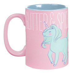 Glitter and spice and everything nice!  That's what mornings with our Loveliest of All Unicorn Coffee Mug are made of!  A wonderful gift for anyone who finds their life as a unicorn exhausting.  It's like drinking a cup full of everything awesome!