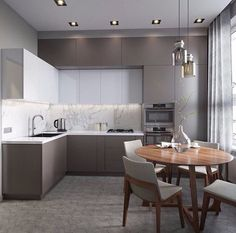 Cucina color tortora 26 interior kitchen white cabinets Cucina Color Tortora: 33 Idee per Arredi e Abbinamenti Modern Kitchen Interiors, Modern Kitchen Design, Interior Design Kitchen, Kitchen Contemporary, Modern Design, Modern Interior, Grey Interiors, Stone Interior, Contemporary Style