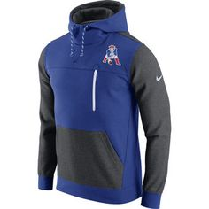 Nike New England Patriots Navy/Charcoal AV15 Retro Fleece Pullover Hoodie