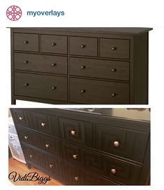 O'verlays Greek Key Kit for IKEA Hemnes 8 Drawer.  Great classic look with tone on tone coloring!