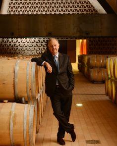 Chianti Toscana: Piero Antinori in his family's newest cellar Chianti Wine, In Vino Veritas, Stuffed Hot Peppers, Wine Making, Cellar, Tuscany, Toast, People, The World
