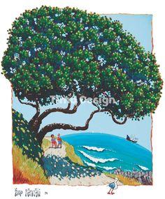 069 Pohutukawa Image, Painting, Art, Wall Painting, Nz Art
